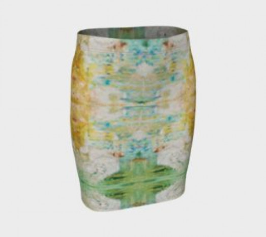 Fitted Skirt Abstract Skirt