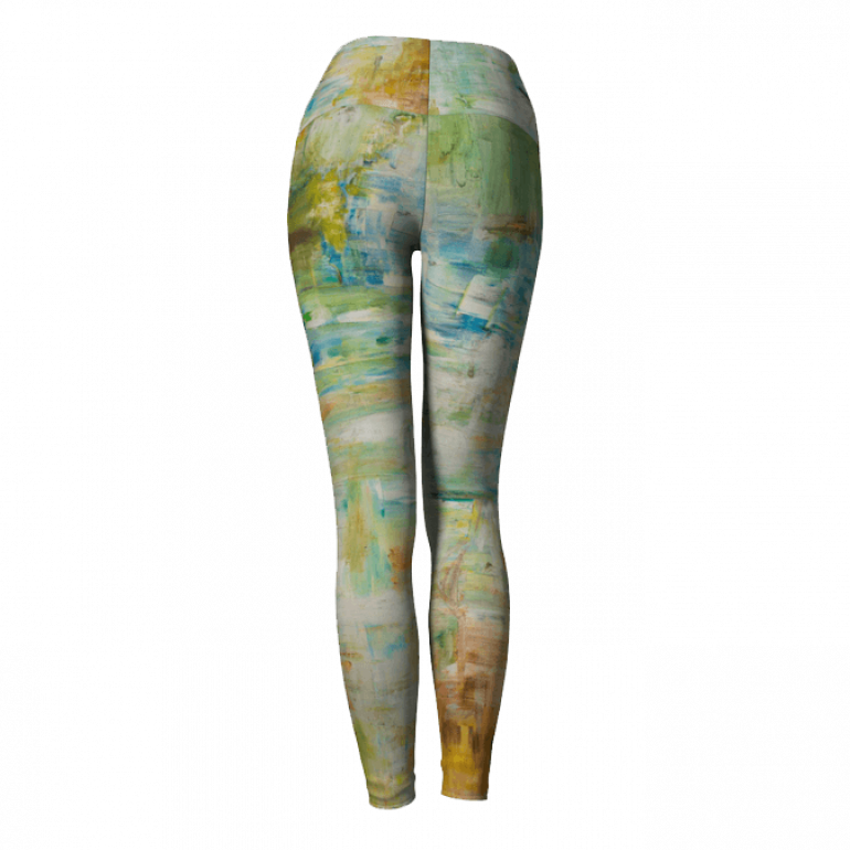 Yoga Leggings Abstract Space-5