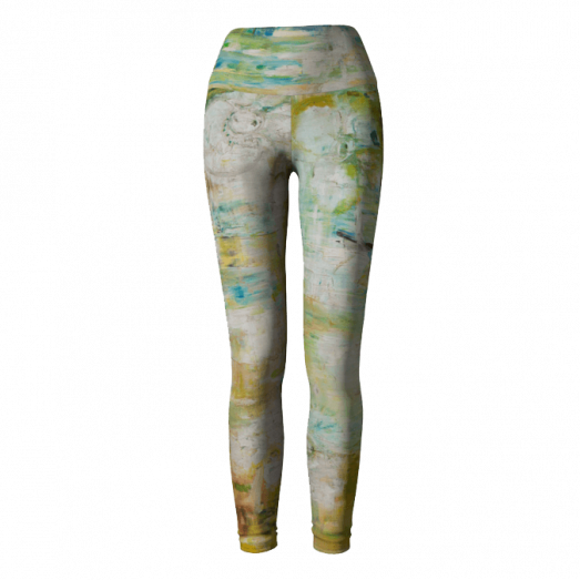Yoga Leggings Abstract Space