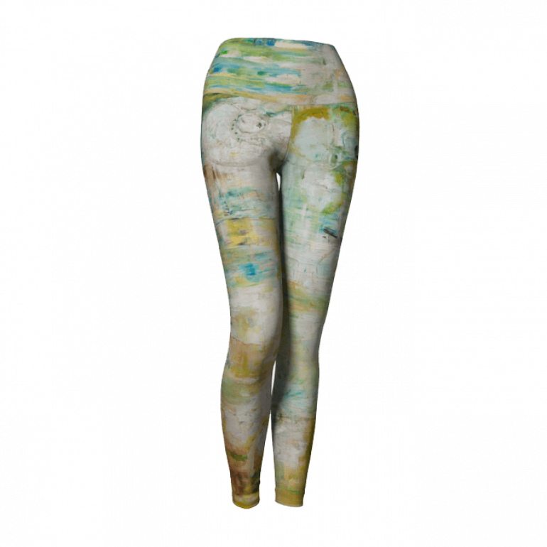 Yoga Leggings Abstract Space-3