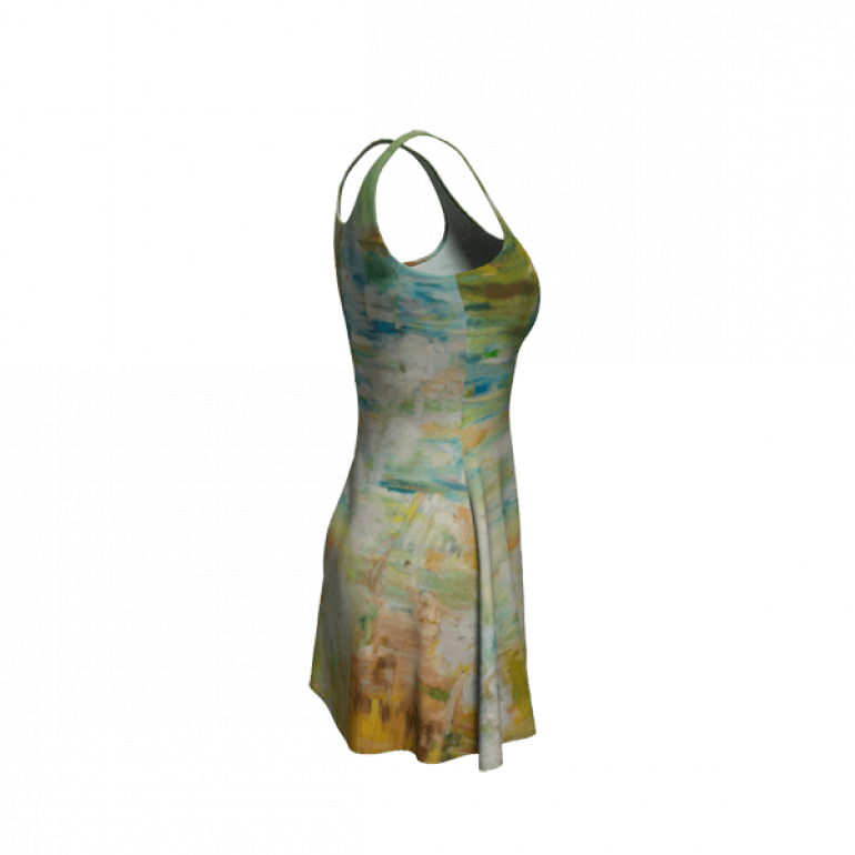 Flare Dress Abstract Space-1