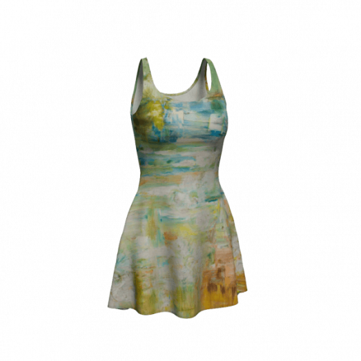 Flare Dress Abstract Space