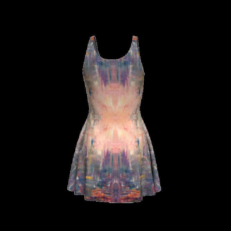 Flare Dress Behind Stars in Indigo-6