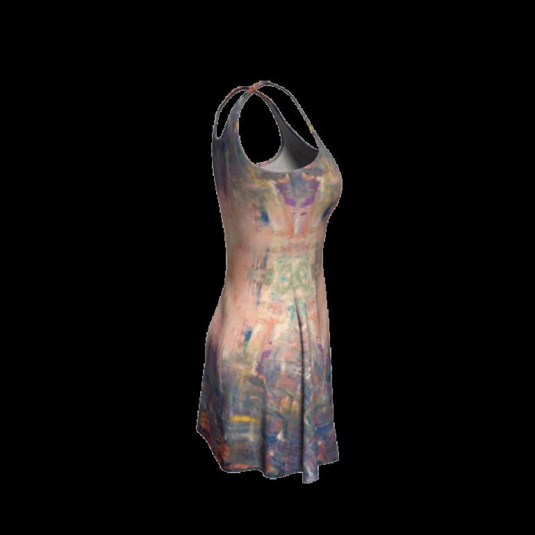 Flare Dress Behind Stars in Indigo-7
