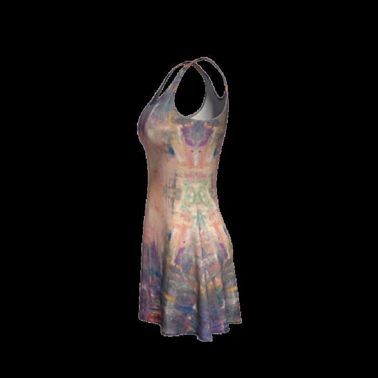 Flare Dress Behind Stars in Indigo-5